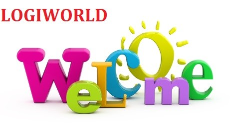 Welcome word single from three-dimensional letters.